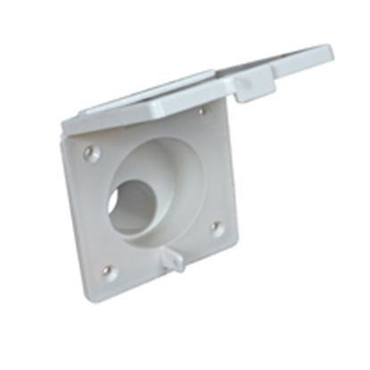 Picture of Camco  Colonial White Plastic Fill Spout w/Door Fresh Water Inlet 37102 10-0730