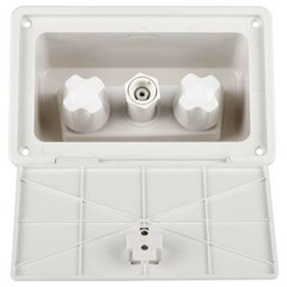 Picture of Dura Faucet  White Faucet Type w/ Quick Connect Valve Exterior Spray Port DF-SA185-WT 10-1224