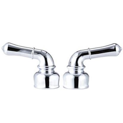 Picture of Dura Faucet  2-Pack Chrome Plastic Teapot Style Lever Faucet Handle DF-RKC-CP 10-1252