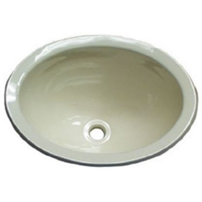 """Picture of Lasalle Bristol  13-5/8""""L X 10-5/8""""W X 5-3/4""""D Oval Ivory ABS Plastic Sink 16156PP 10-1362"""