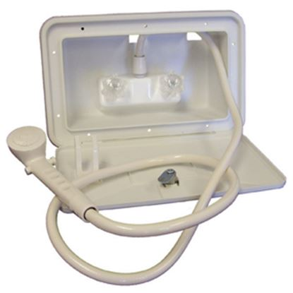 Picture of Lasalle Bristol  Polar White Lockable Exterior Shower Box Kit 742007 10-1578