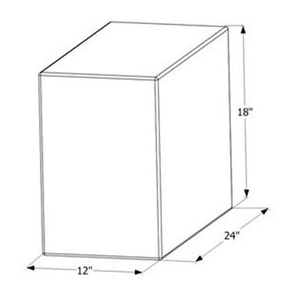 """Picture of ICON  24"""" x 18"""" x 12"""" 20 Gal Fresh Water Tank 12454 10-1597"""