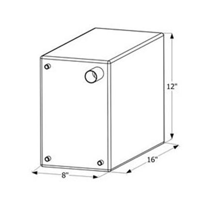 """Picture of ICON  16"""" x 12"""" x 8"""" 6 Gal Fresh Water Tank w/ Fittings 12474 10-1640"""