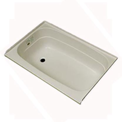 "Picture of Specialty Recreation  Parchment 24""x36"" LH Drain ABS Bathtub BT2436PL 10-1856"