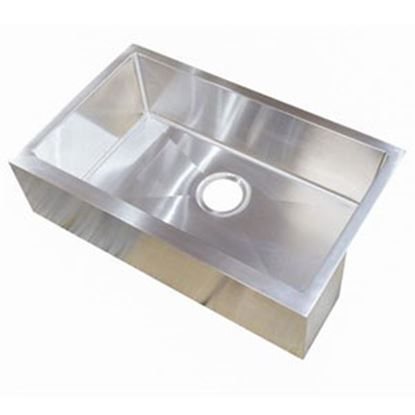 """Picture of Better Bath  27""""W X 16""""L X 7""""D Stainless Steel Farmers Sink 389910 10-1956"""
