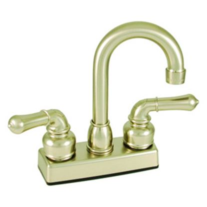 "Picture of Empire Brass Ultra Line Nickel w/Teapot Handles 4"" Faucet U-YNN16N 10-2375"