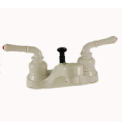 "Picture of Empire Brass Ultra Line White w/Teapot Handles 4"" Lavatory Faucet U-YWI73W 10-2394"