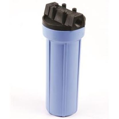 """Picture of SHURflo Pentek (R) 10""""L 1/2"""" Female Ports Water Filter Housing w/ Pressure Relief Valve 158195 10-2503"""