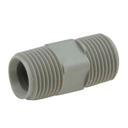 """Picture of QEST Qicktite (R) 1/2"""" MPT Gray Acetal Fresh Water Coupler Fitting  10-3082"""