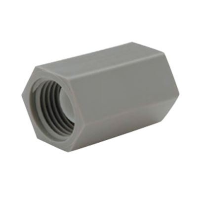 """Picture of QEST Qicktite (R) 3/4"""" FPT Gray Acetal Fresh Water Straight Fitting  10-3121"""