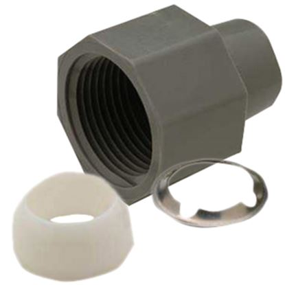 """Picture of QEST Qicktite (R) 1/2"""" Acetal Fresh Water Compression Fitting Nut  10-3232"""