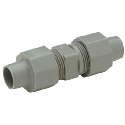 """Picture of QEST Qicktite (R) 1/2"""" ID Tube Compression Gray Acetal Fresh Water Straight Fitting  10-4031"""