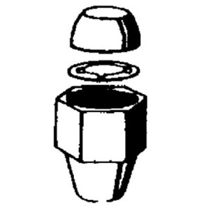 """Picture of QEST Qicktite (R) 2-Pack 1"""" Acetal Fresh Water Compression Fitting Nut  10-4133"""