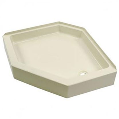 """Picture of Better Bath  Parchment 32""""x32"""" Neo-Angle RH Drain Shower Pan 209415 10-5719"""