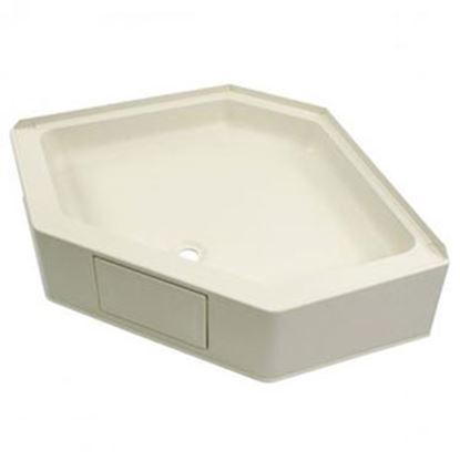"""Picture of Better Bath  Parchment 34""""x34"""" Neo-Angle Center Drain Shower Pan 301242 10-5722"""
