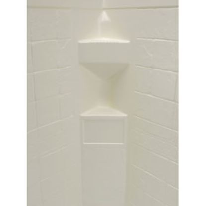 "Picture of Better Bath  1-Piece Parchment 34""L x 34""W x 68""H Neo Angle Shower Surround 306203 10-5725"