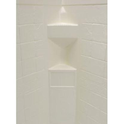 "Picture of Better Bath  1-Piece Parchment 34""L x 34""W x 68""H Neo Angle Shower Surround 306201 10-5727"