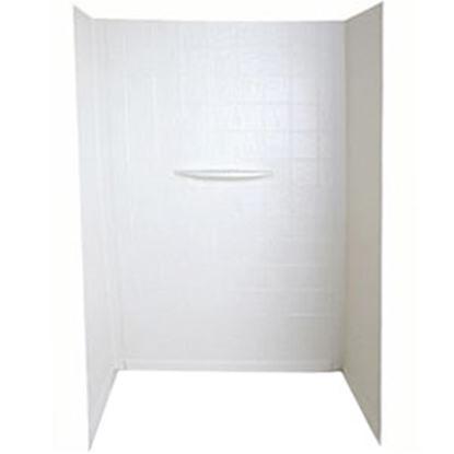 "Picture of Better Bath  1-Piece White 24""L x 36""W x 62""H Shower Surround 210307 10-5743"