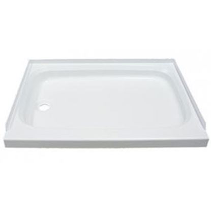 """Picture of Better Bath  White 24""""x32"""" Standard LH Drain Shower Pan 210369 10-5744"""