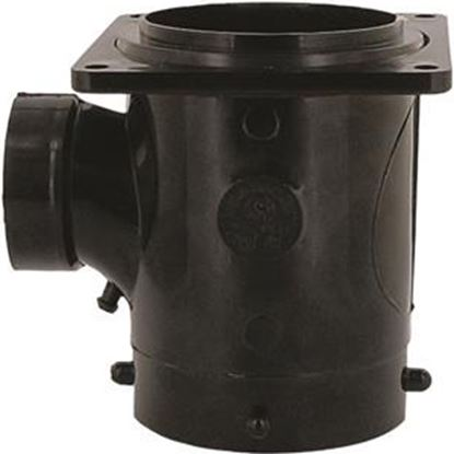 """Picture of Valterra  1-1/2"""" Hub Plastic Waste Valve Fitting w/ 3"""" Rotating Flange T1011 11-0601"""