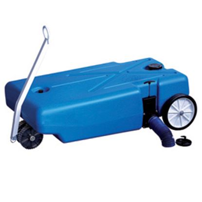 Picture of Barker Tote-Along 42 Gal 4-Wheel Portable Waste Holding Tank w/ Tow Handle 30844 11-0704