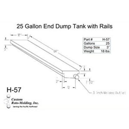 Picture of Custom Roto Molding  27 Gal End Dump Polyethylene Waste Holding Tank H-57 11-1034