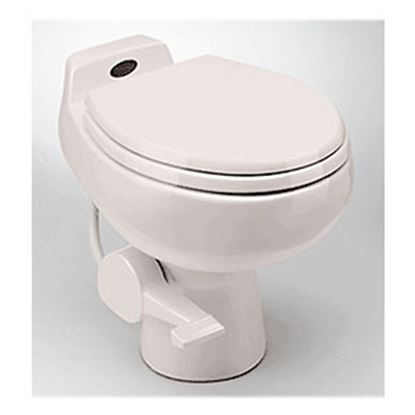Picture of Dometic Traveler (R) 510 Plus White Ceramic Permanent Toilet w/ Pedal Flush 302651001 12-0013