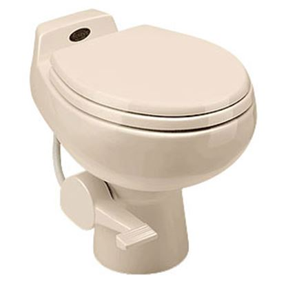 Picture of Dometic Traveler (R) 510 Plus Bone Ceramic Permanent Toilet Pedal Flush 302651003 12-0014