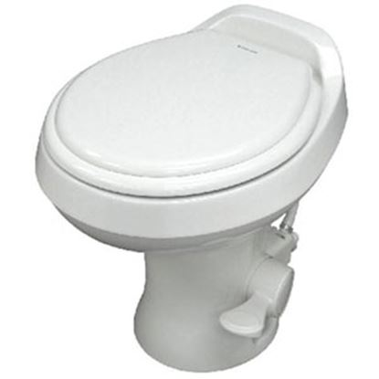 "Picture of Dometic 300 Series White 18"" Pedal Flush Permanent Toilet 302300071 12-0016"