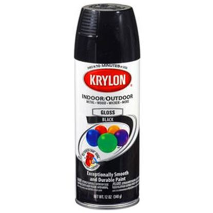 Picture of Krylon  12Oz Gloss Black Aerosol Spray Can Paint For Indoor/ Outdoor 51601 13-0556