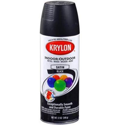 Picture of Krylon  12Oz Semi-Flat Black Aerosol Spray Can Paint 51613 13-0560