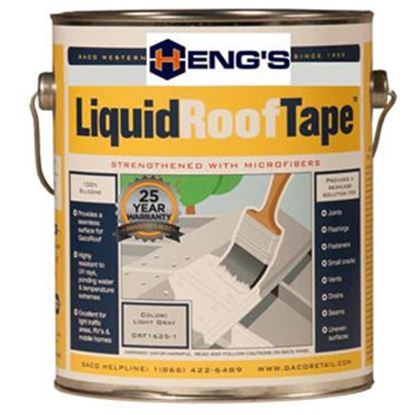 Picture of Heng's LiquidRoofTape (TM) Light Gray 1 Gal Roof Sealant HGRF1625 - 1 13-1880