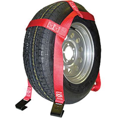 Picture of Ultra-Fab  Red Tie Down Strap w/Hooks 46-700034 14-3061