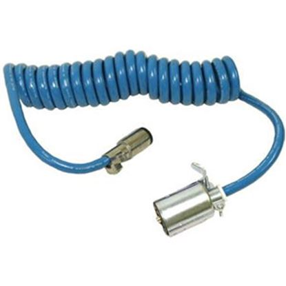 Picture of Blue Ox  7-Way RV Blade To 6 Round Trailer Wiring Connector Adapter w/Wire BX88206 14-5237