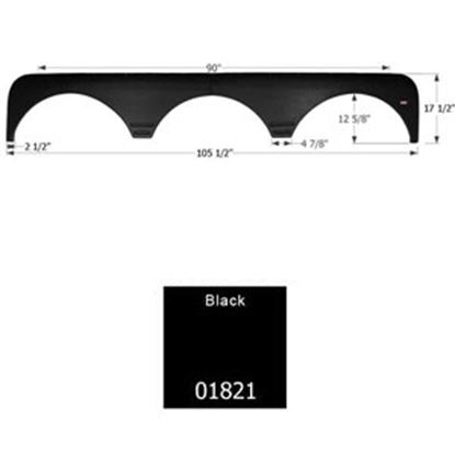 Picture of Icon  Black Triple Axle Fender Skirt For Gulfstream Brands 01821 15-0059