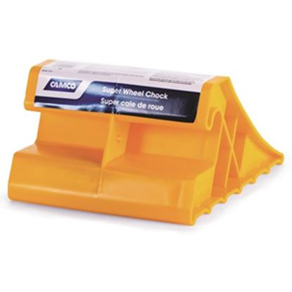 Picture of Camco  Single Yellow Hard Plastic Wheel Chock 44492 15-0234