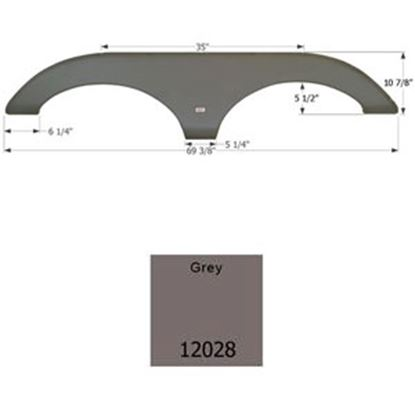 Picture of Icon  Gray Tandem Axle Fender Skirt For Forest River Brands 12028 15-0478