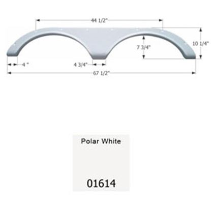 Picture of Icon  Polar White Tandem Axle Fender Skirt For Heartland Brands 01614 15-0498