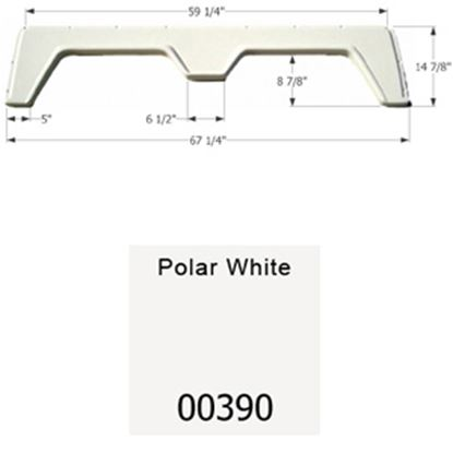 """Picture of Icon  Polar White 67-1/4""""L x 14-7/8""""H Tandem Axle Universal Fender Skirt 00390 15-1606"""