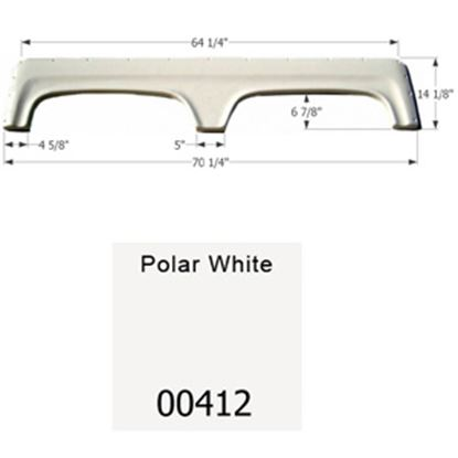 """Picture of Icon  Polar White 67-1/4""""L x 18-1/8""""H Tandem Axle Universal Fender Skirt 00412 15-1612"""