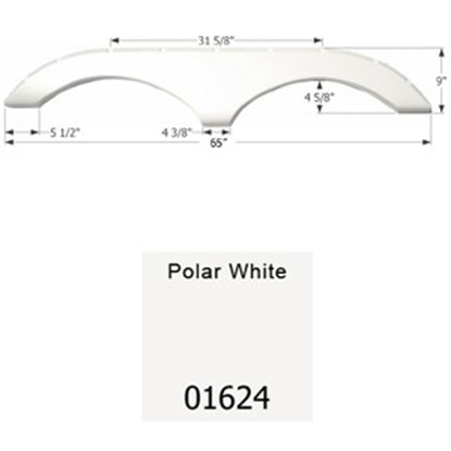 Picture of Icon  Polar White Tandem Axle Fender Skirt For Pilgrim Brands 01624 15-1627