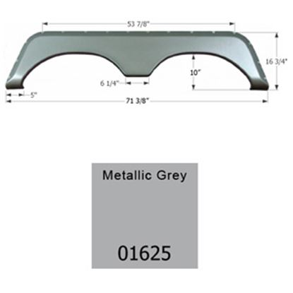 Picture of Icon  Metallic Grey Tandem Axle Fender Skirt For Jayco Brands 01625 15-1628