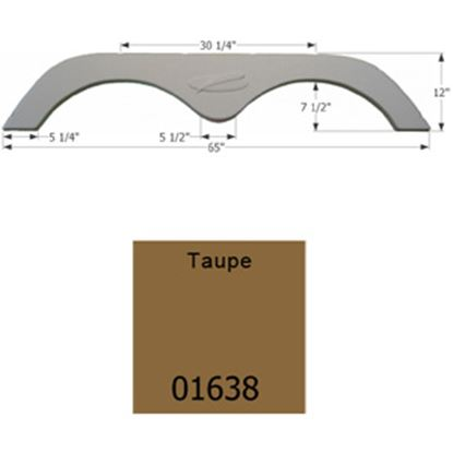 Picture of Icon  Taupe Tandem Axle Fender Skirt For R-Vision Brands 01638 15-1633