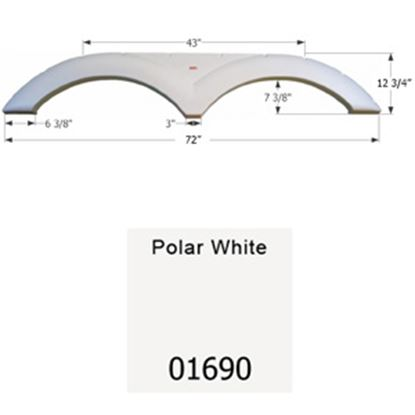 Picture of Icon  Polar White Tandem Axle Fender Skirt For Dutchmen Brands 01690 15-1643