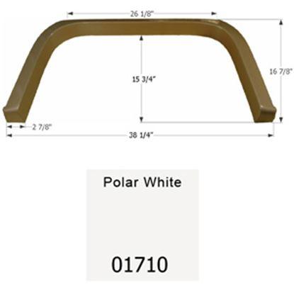 Picture of Icon  Polar White Single Axle Fender Skirt For Coachmen Brands 01710 15-1647