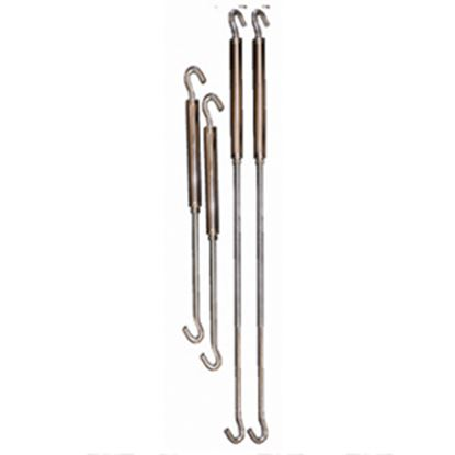 "Picture of Happijac  11"" Stainless Steel Spring Loaded Hook Front Turnbuckle 182901 16-0083"