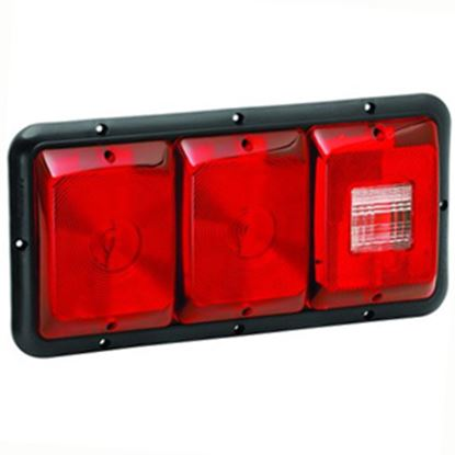 """Picture of Bargman 84 Series Red 14-1/16""""x6-15/16""""x1-1/4"""" Tail Light 34-84-009 18-0055"""