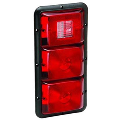 """Picture of Bargman 84 Series Red 14-1/16""""x6-15/16""""x1-1/4"""" Tail Light 30-84-509 18-0056"""