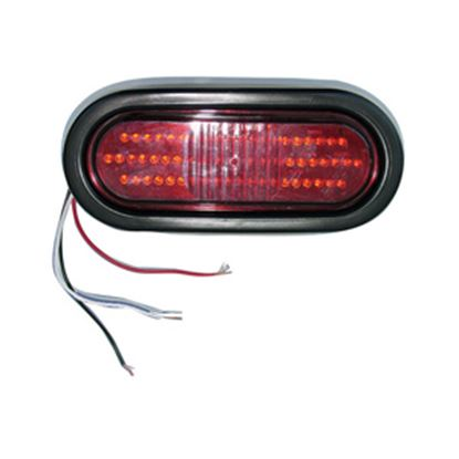"""Picture of Command  Red 6-1/2""""x2-1/4""""x2-1/8"""" 22 LED Stop/ Turn/ Tail Light 003-5500R 18-0226"""