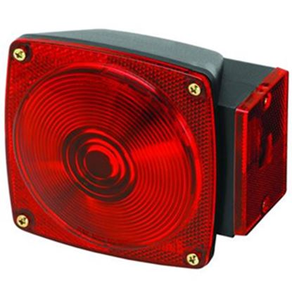 "Picture of Bargman 80 Series Red 4-3/4""x4-1/2""x2-9/16"" Tail Light 2823284 18-0287"